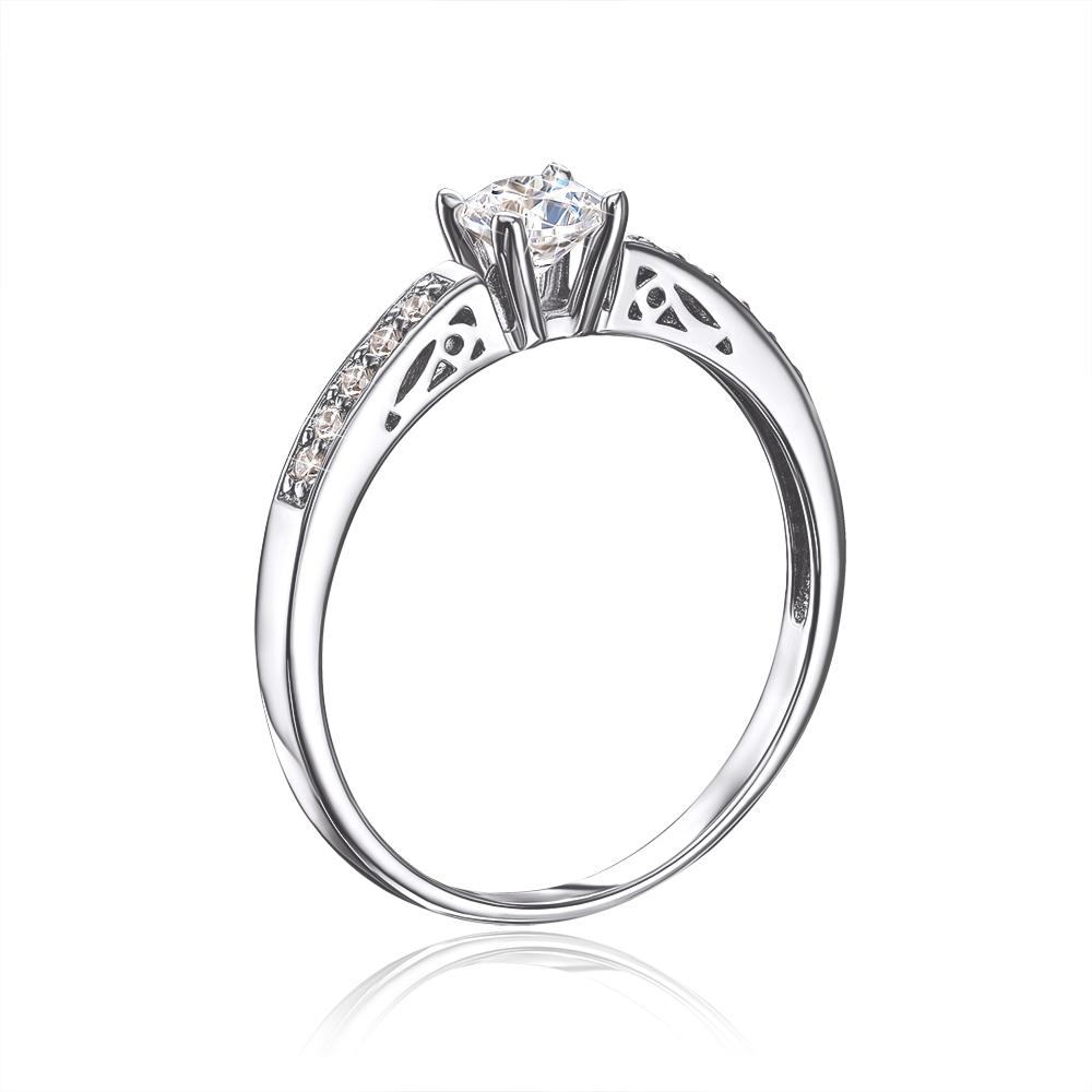 Золотое кольцо с фианитами. Артикул 12239/б