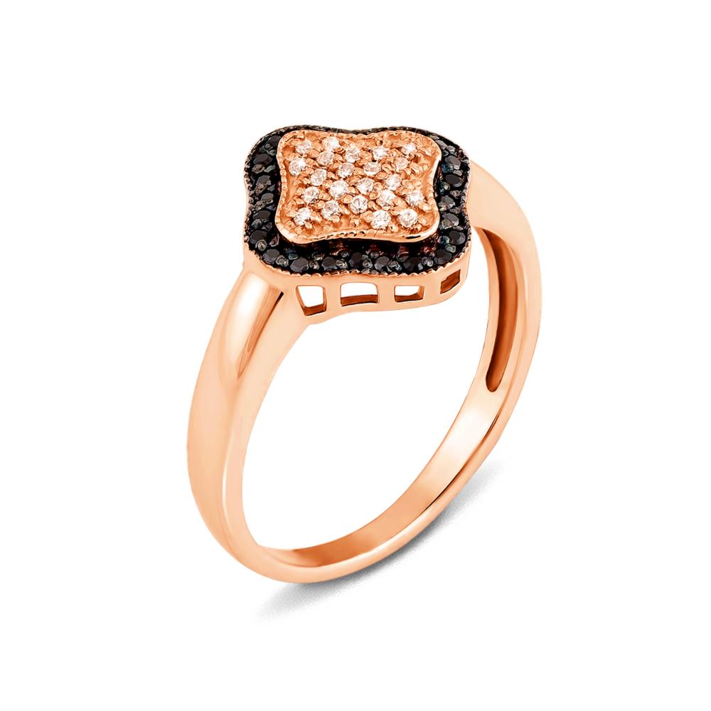 Золотое кольцо с фианитами. Артикул 12243/ч п