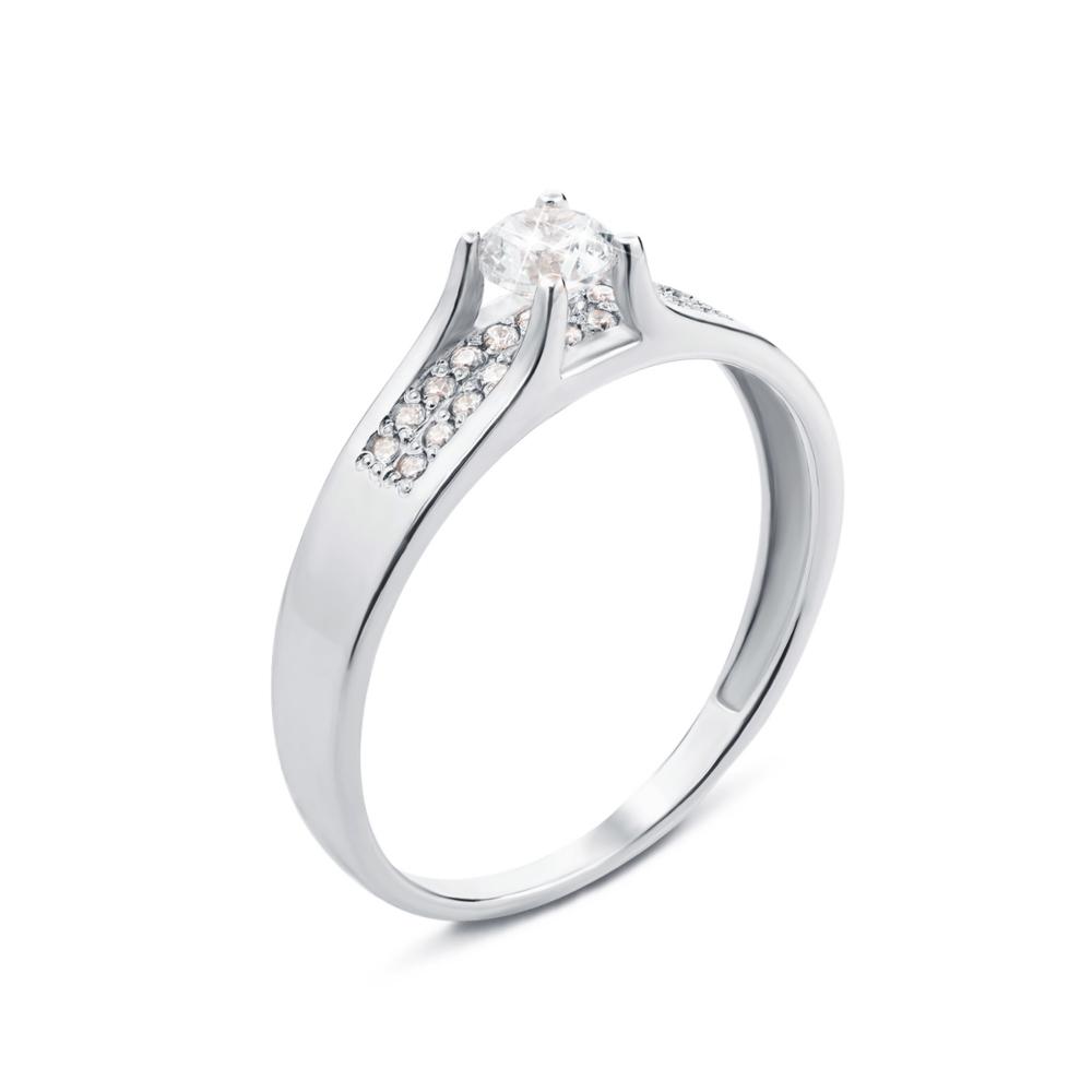 Золотое кольцо с фианитами. Артикул 12244/б