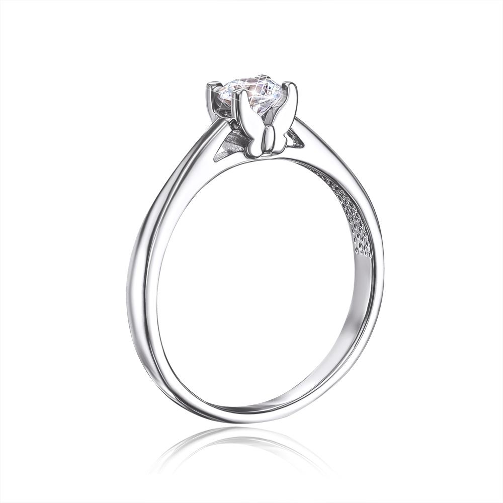 Золотое кольцо с фианитом. Артикул 12253/б