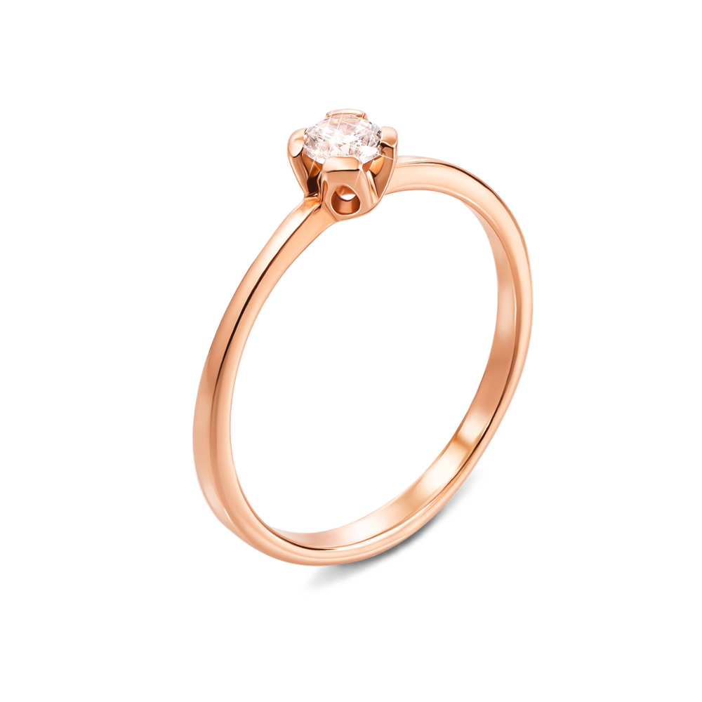 Золотое кольцо с фианитом. Артикул 12261/01/0/29 (12261 с)