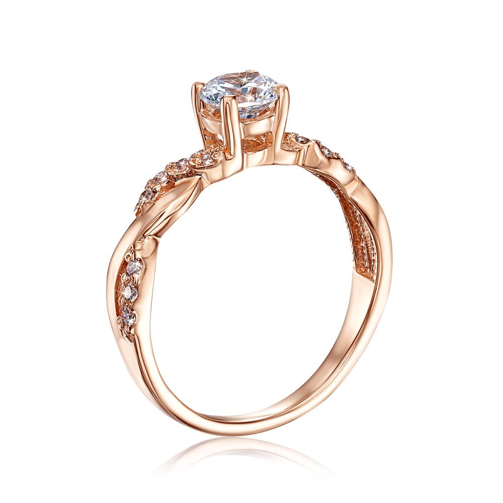 Золотое кольцо с фианитами (12263 с)