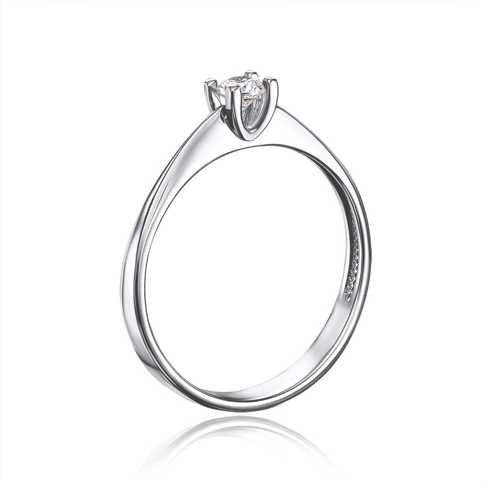 Золотое кольцо с фианитом Swarovski Zirconia. Артикул 12269/02/1/35