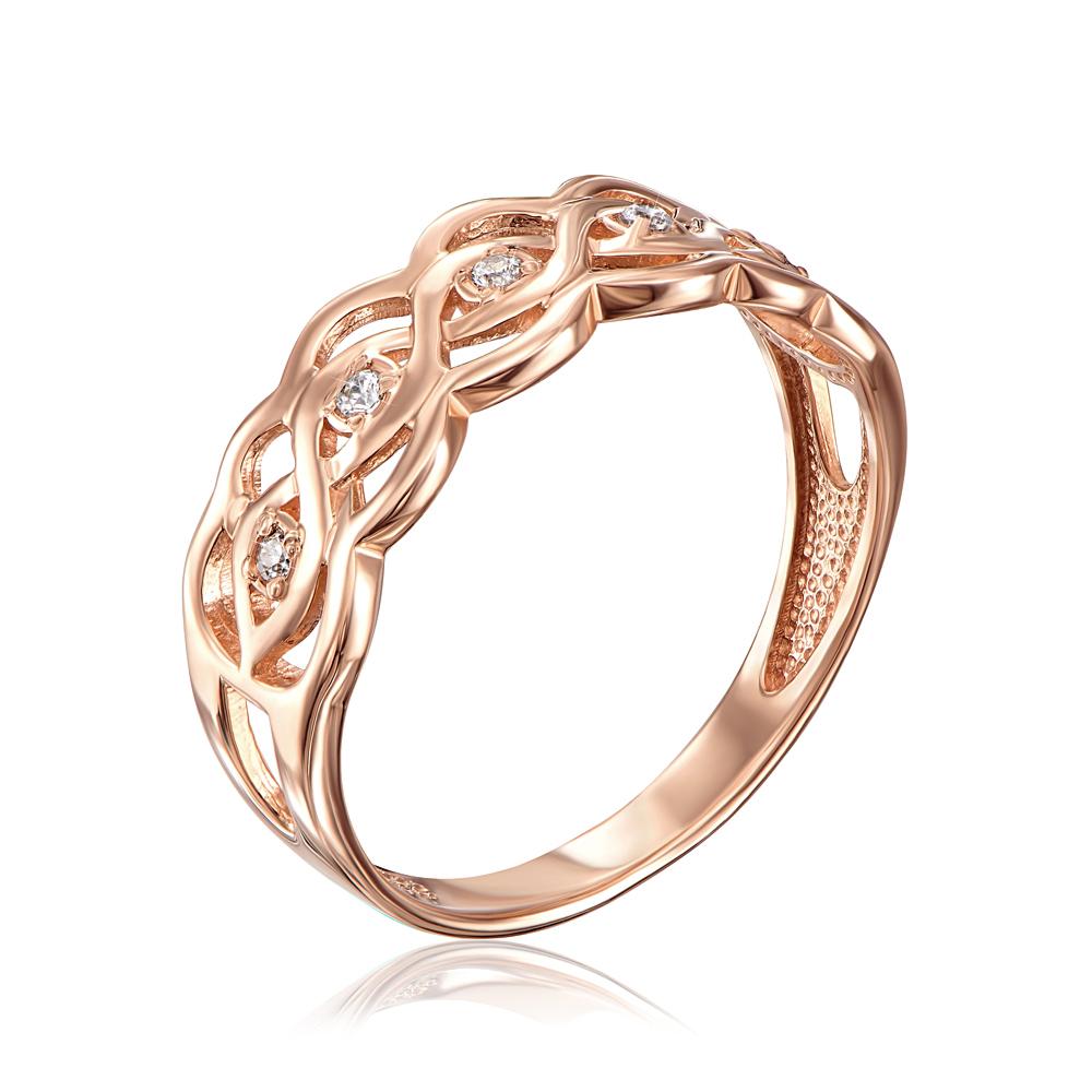 Золотое кольцо с фианитами. Артикул 12279/01/0/13 (12279 с)