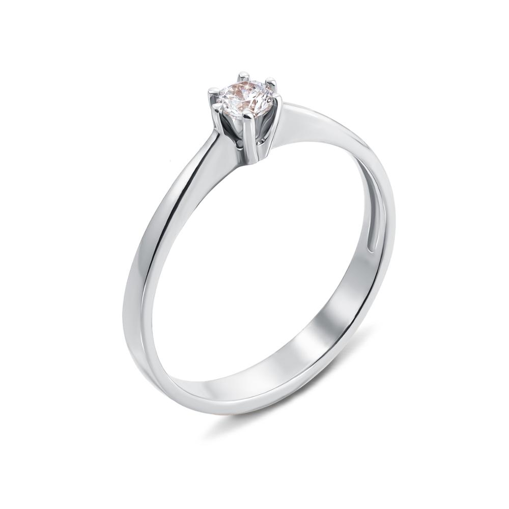 Золотое кольцо с фианитом Swarovski Zirconia. Артикул 12287/02/1/35