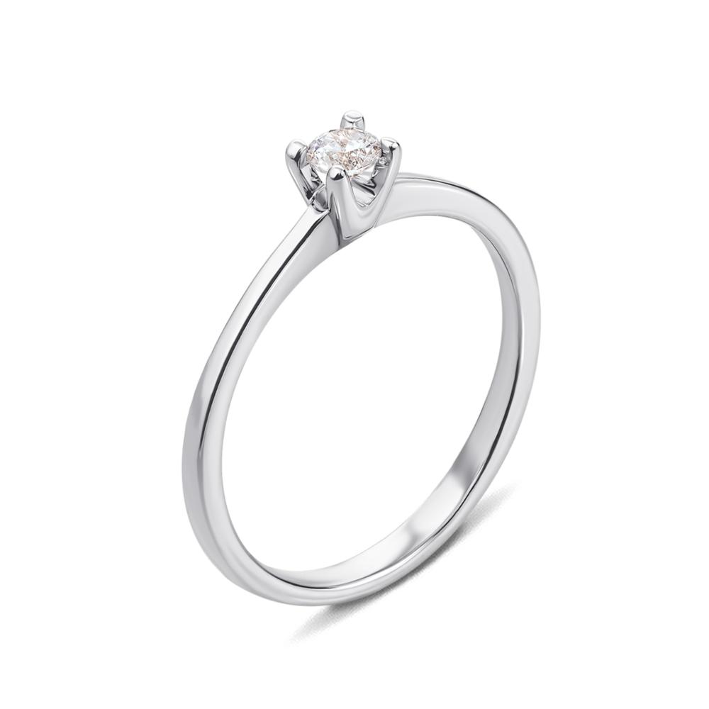 Золотое кольцо с фианитом Swarovski Zirconia. Артикул 12298/б SW