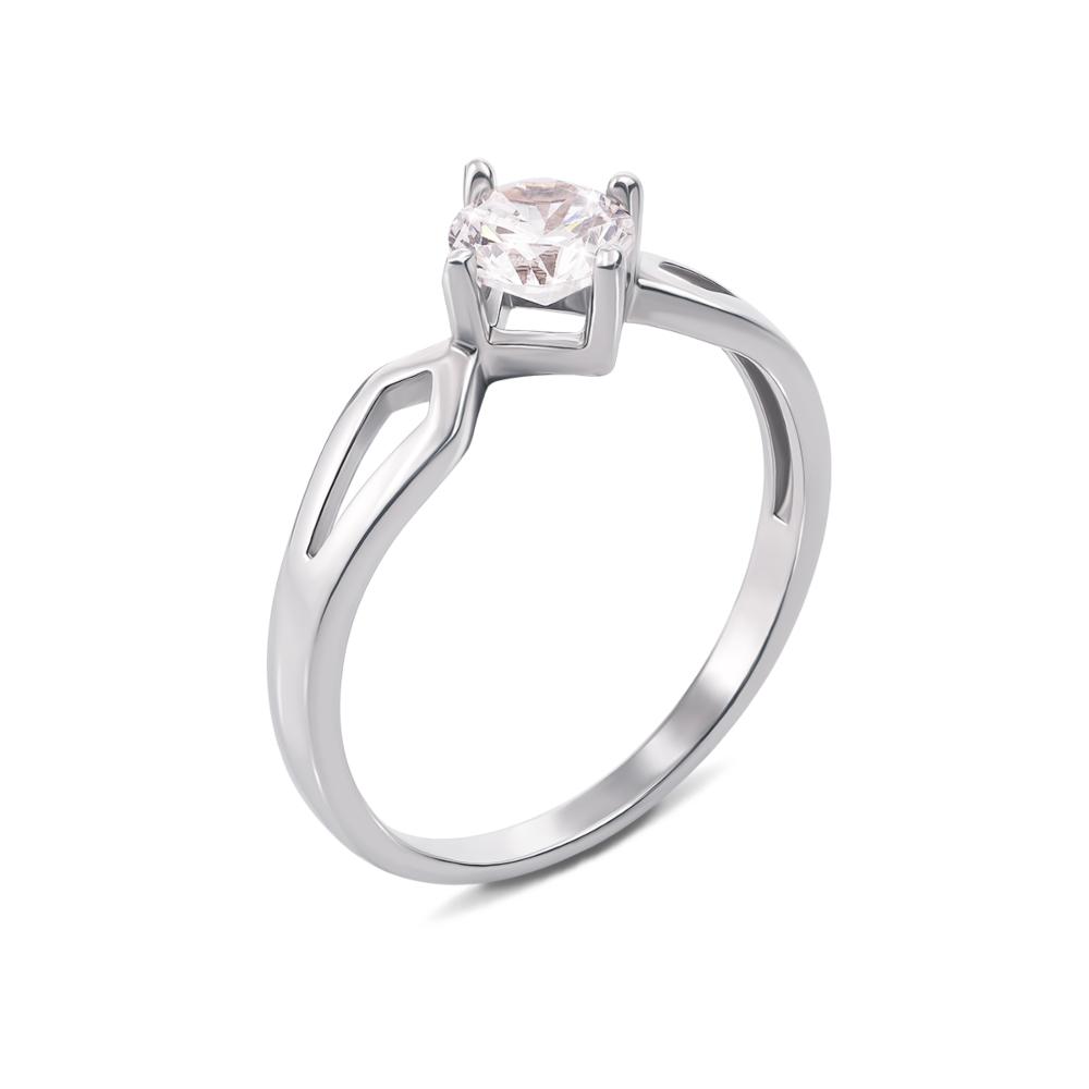 Золотое кольцо с фианитом. Артикул 12303/б