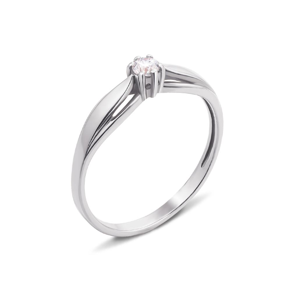 Золотое кольцо с фианитом. Артикул 12312/б с
