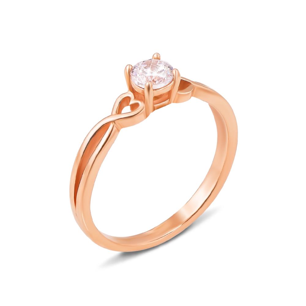 Золотое кольцо с фианитом. Артикул 12333