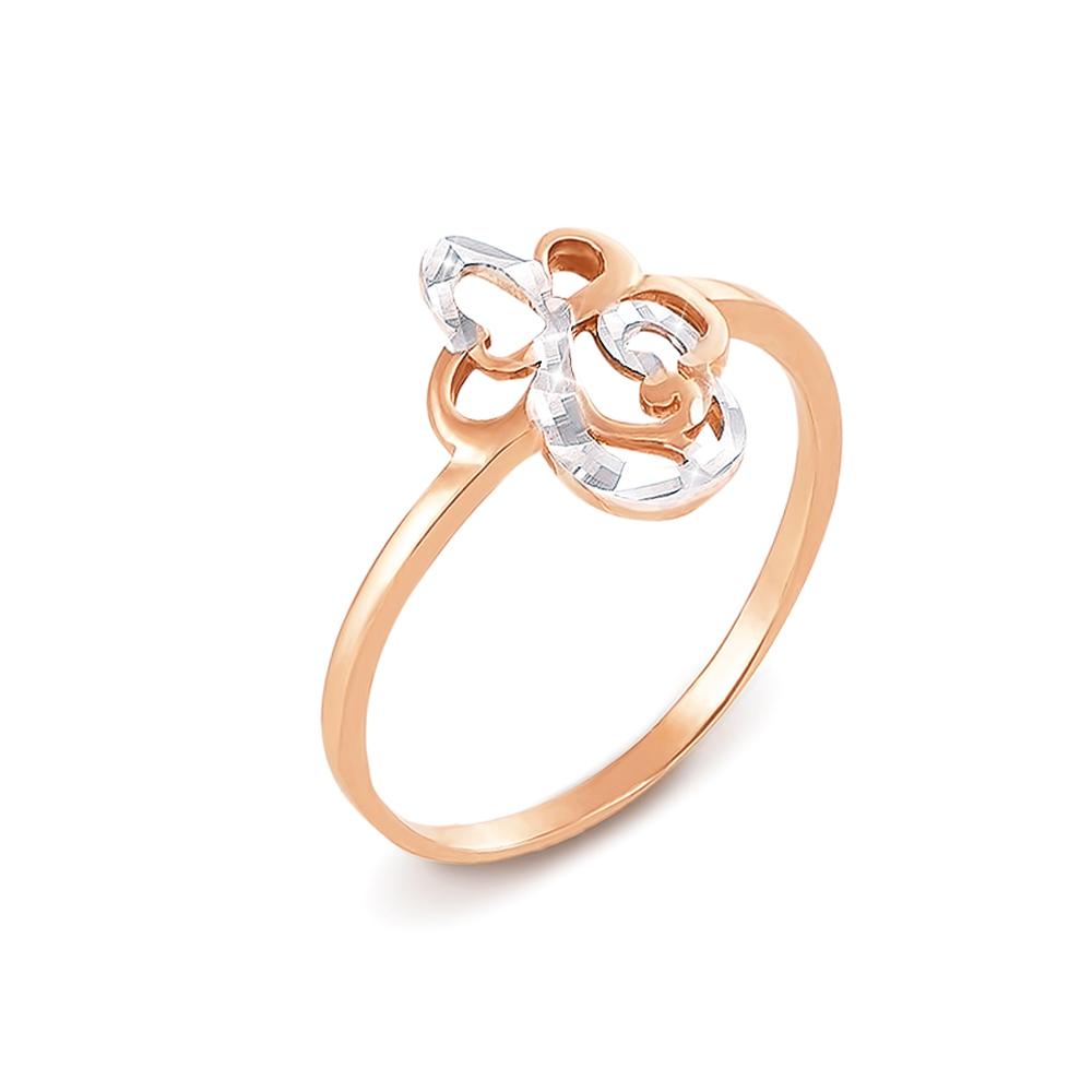Золотое кольцо с алмазной гранью. Артикул 12341 с