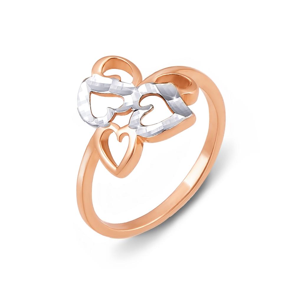 Золотое кольцо с алмазной гранью. Артикул 12342 с