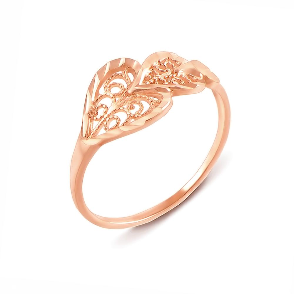 Золотое кольцо с алмазной гранью. Артикул 12352 с