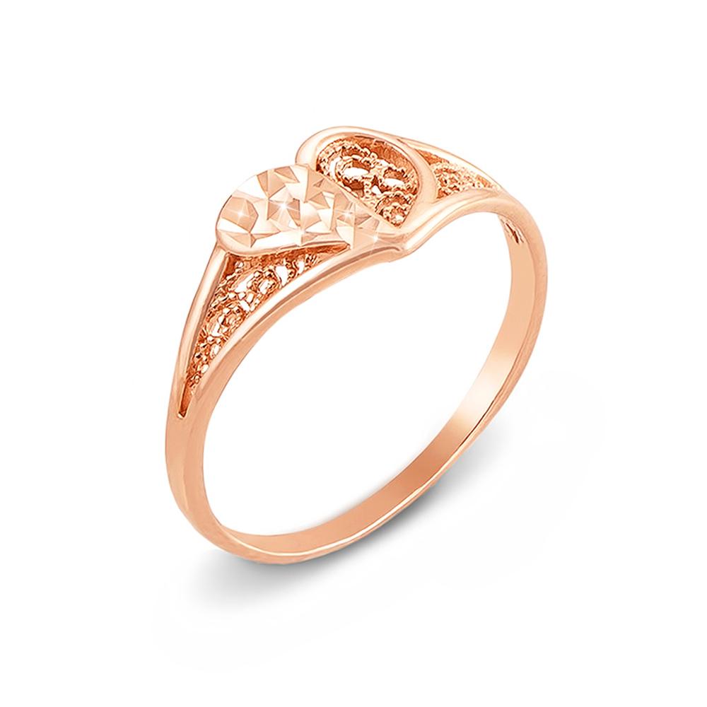 Золотое кольцо с алмазной гранью. Артикул 12355
