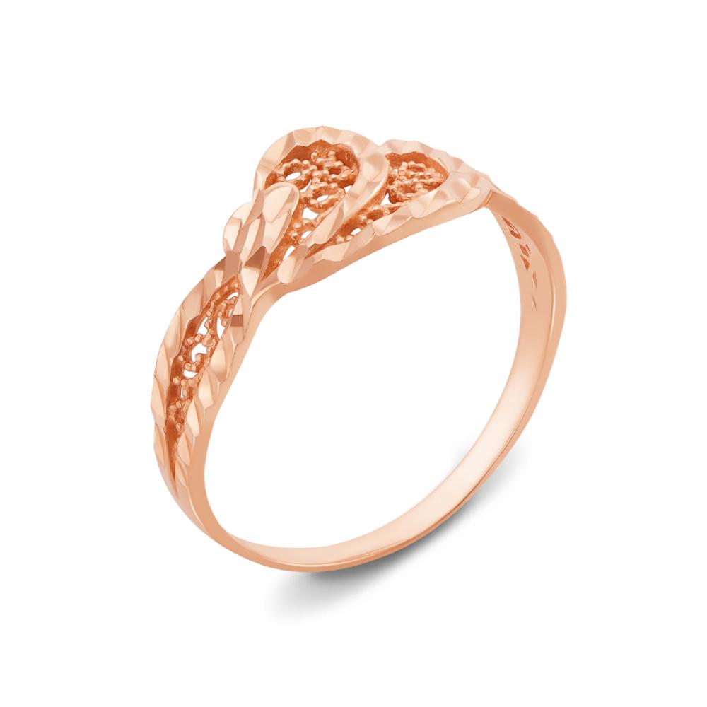 Золота каблучка з алмазною гранню. Артикул 12359 с