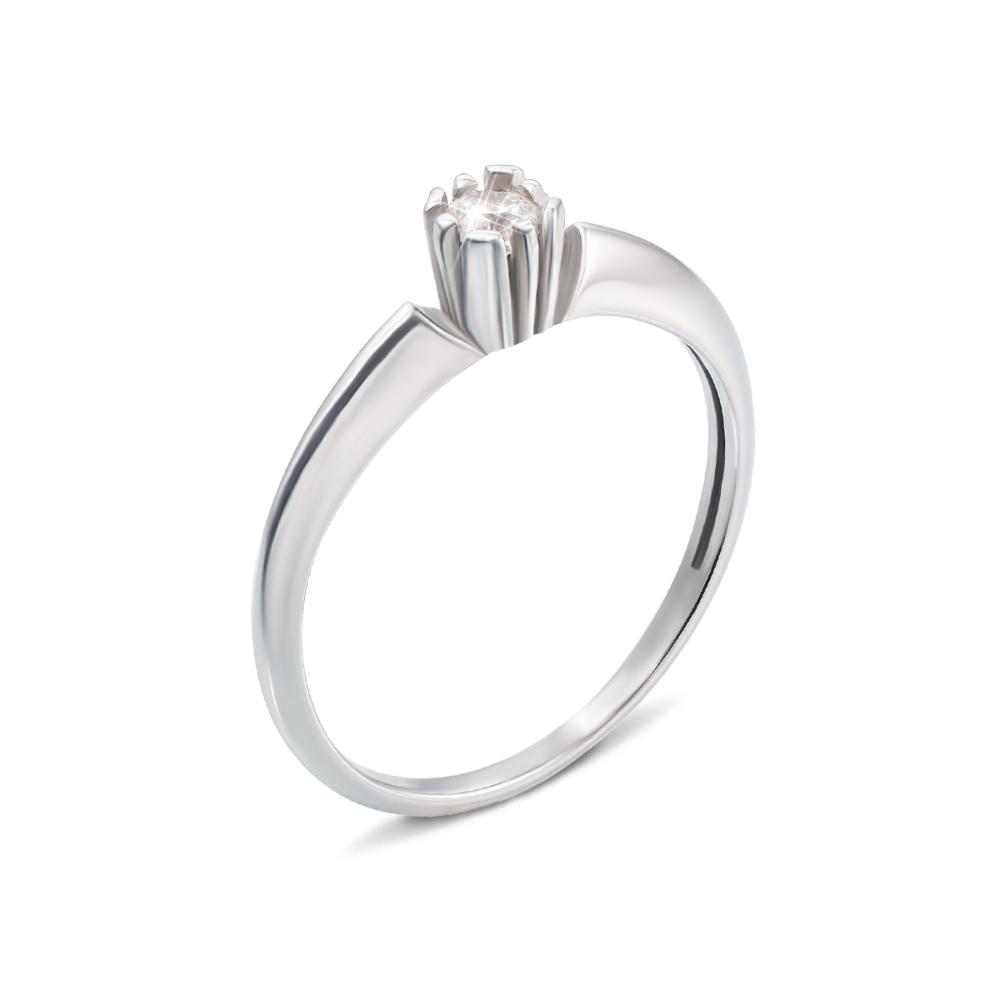 Золотое кольцо с фианитом. Артикул 12374/б