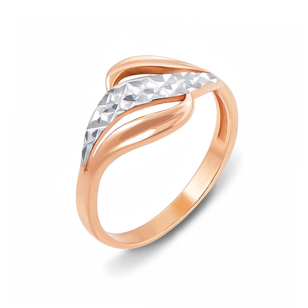 Золота каблучка з алмазною гранню. Артикул 12394 с