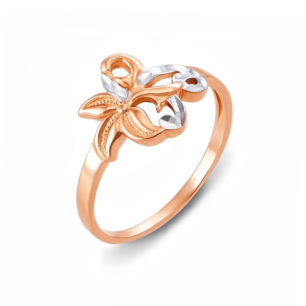 Золотое кольцо с алмазной гранью. Артикул 12396 с