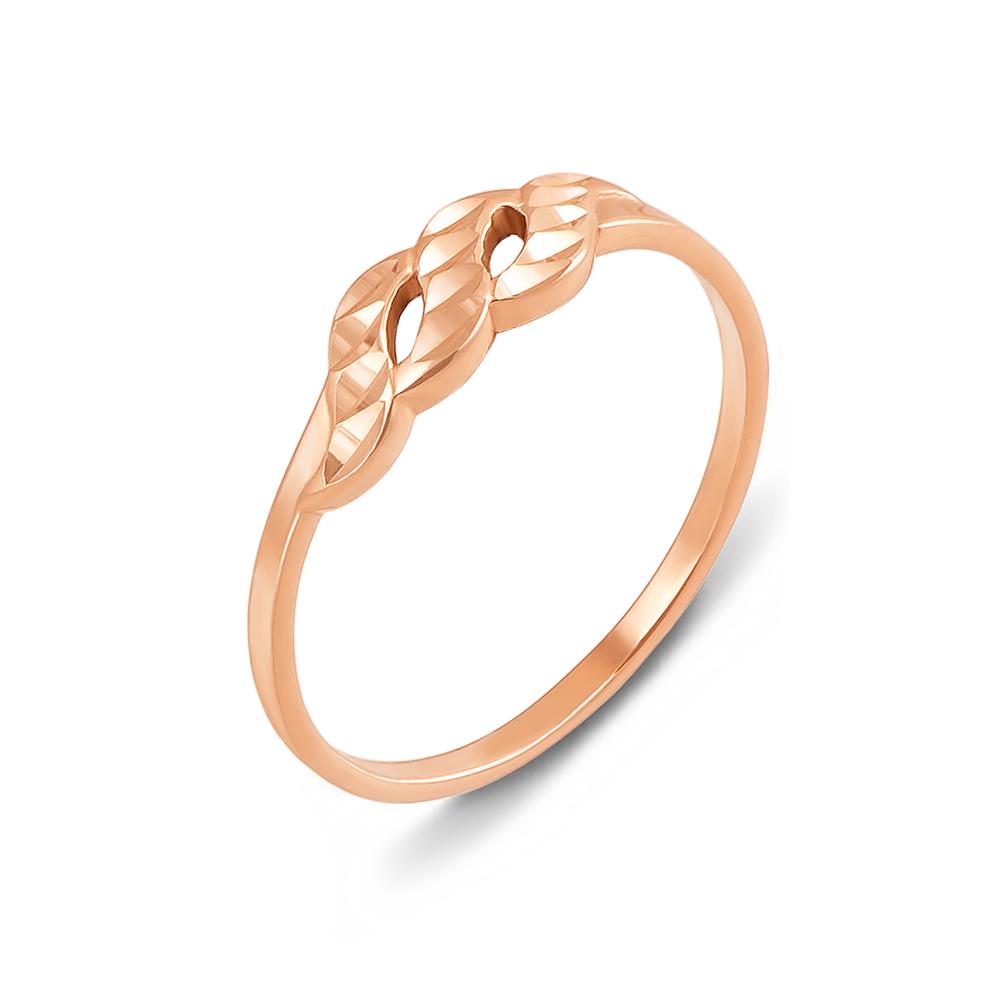 Золотое кольцо с алмазной гранью. Артикул 12398