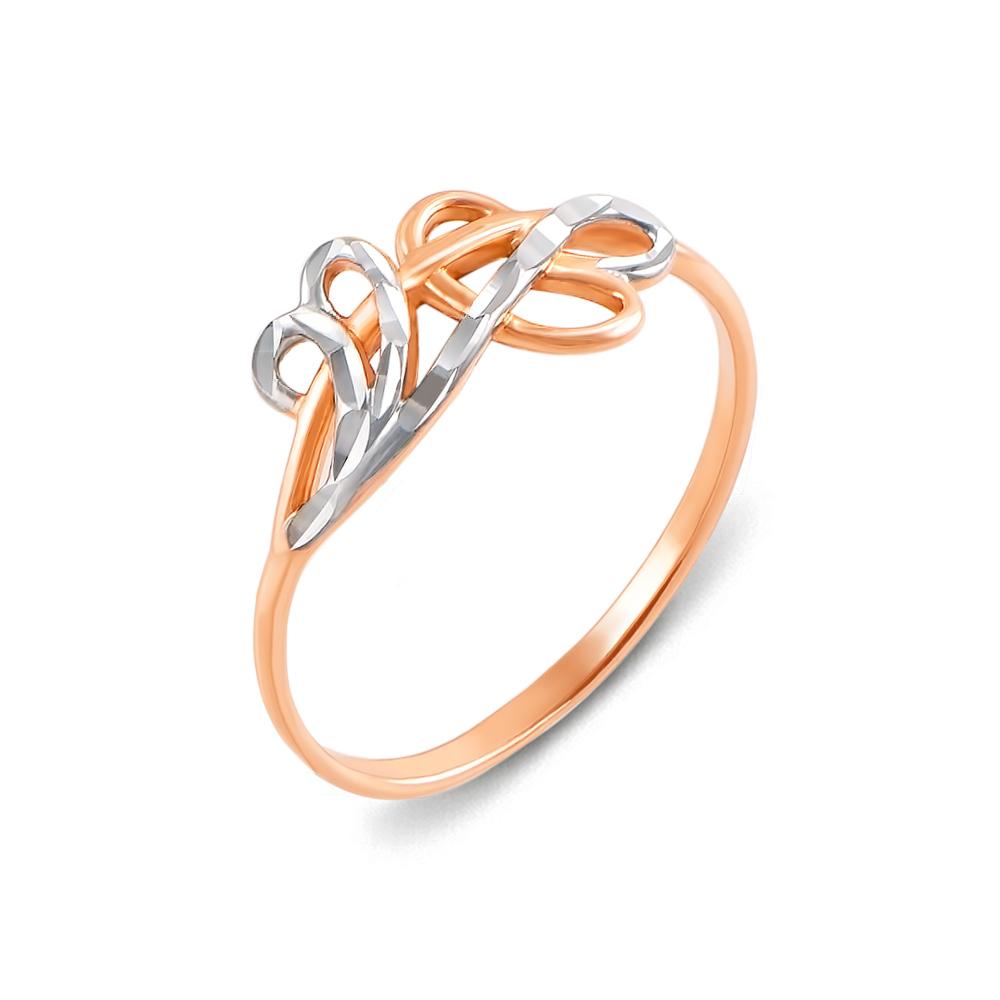 Золота каблучка з алмазною гранню. Артикул 12399