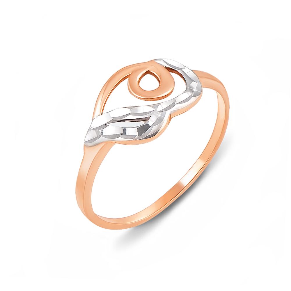 Золота каблучка з алмазною гранню. Артикул 12400