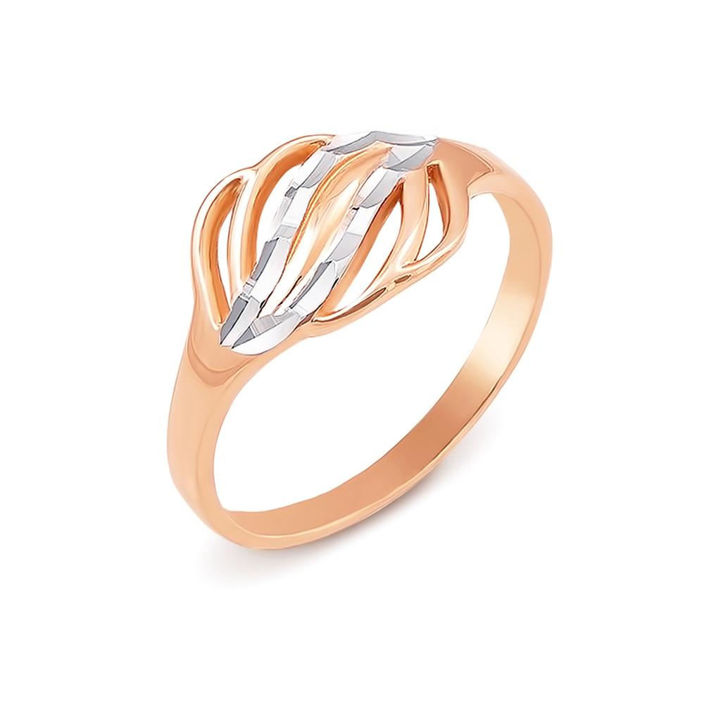 Золота каблучка з алмазною гранню. Артикул 12411 с