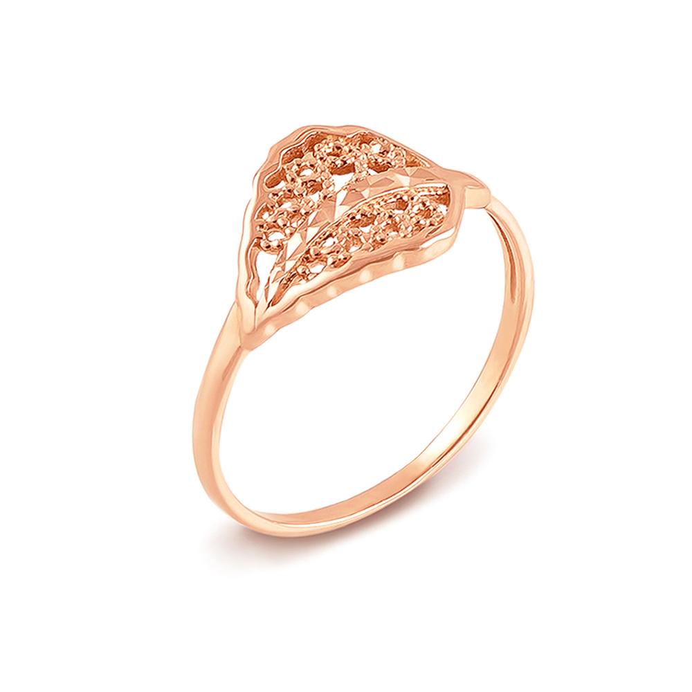 Золота каблучка з алмазною гранню. Артикул 12419 с