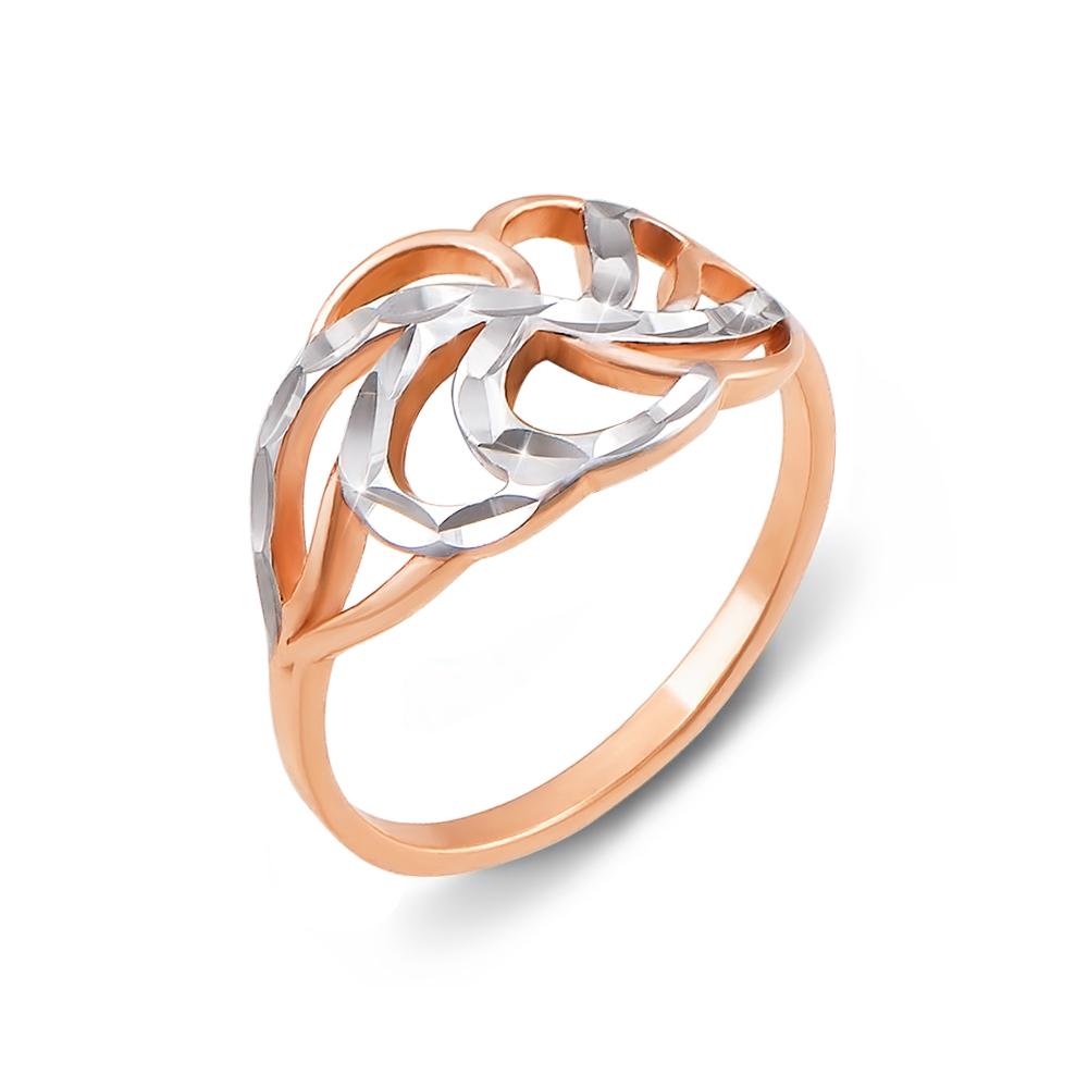Золотое кольцо с алмазной гранью. Артикул 12421 с