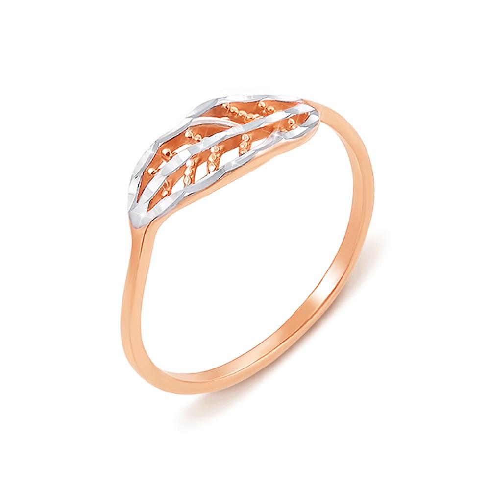 Золотое кольцо с алмазной гранью. Артикул 12429 с