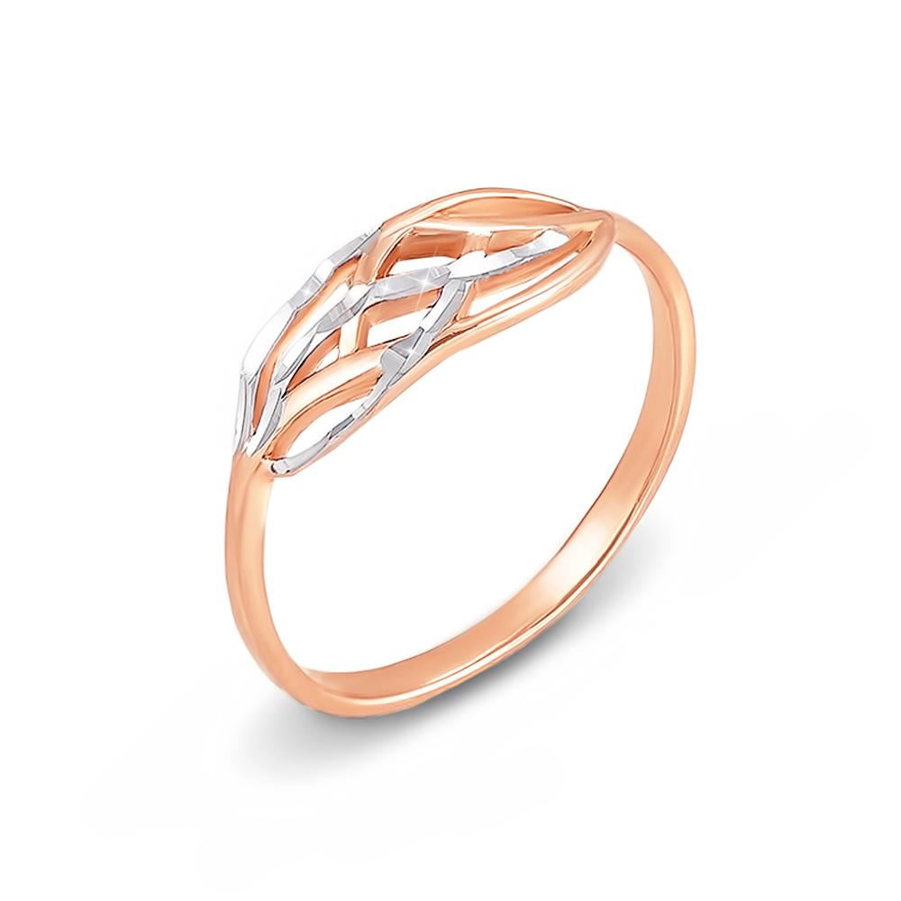 Золота каблучка з алмазною гранню. Артикул 12438 с