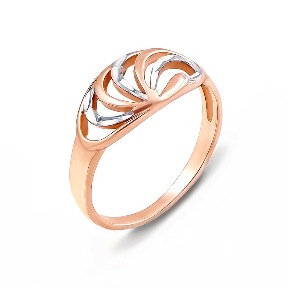 Золотое кольцо с алмазной гранью. Артикул 12440 с
