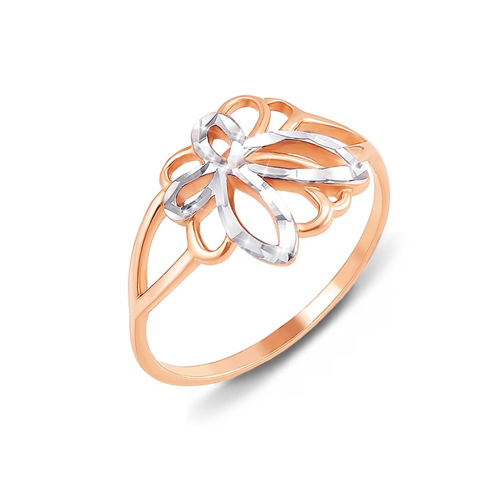 Золота каблучка з алмазною гранню. Артикул 12443