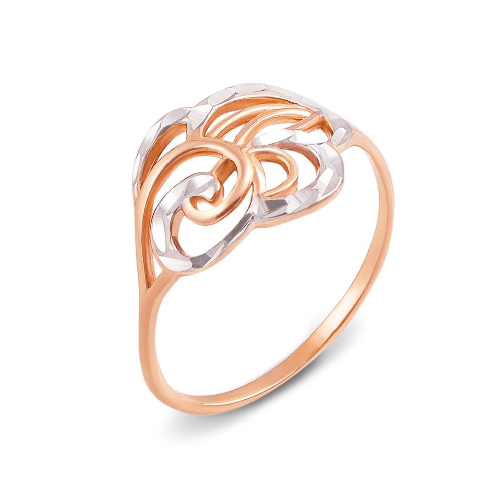 Золотое кольцо с алмазной гранью. Артикул 12445 с