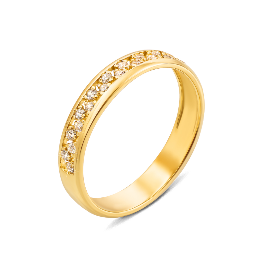 Золота каблучка з фіанітами. Артикул 12471/eu