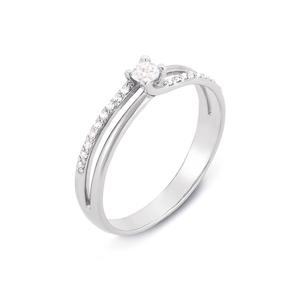 Золотое кольцо с фианитами. Артикул 12478/б