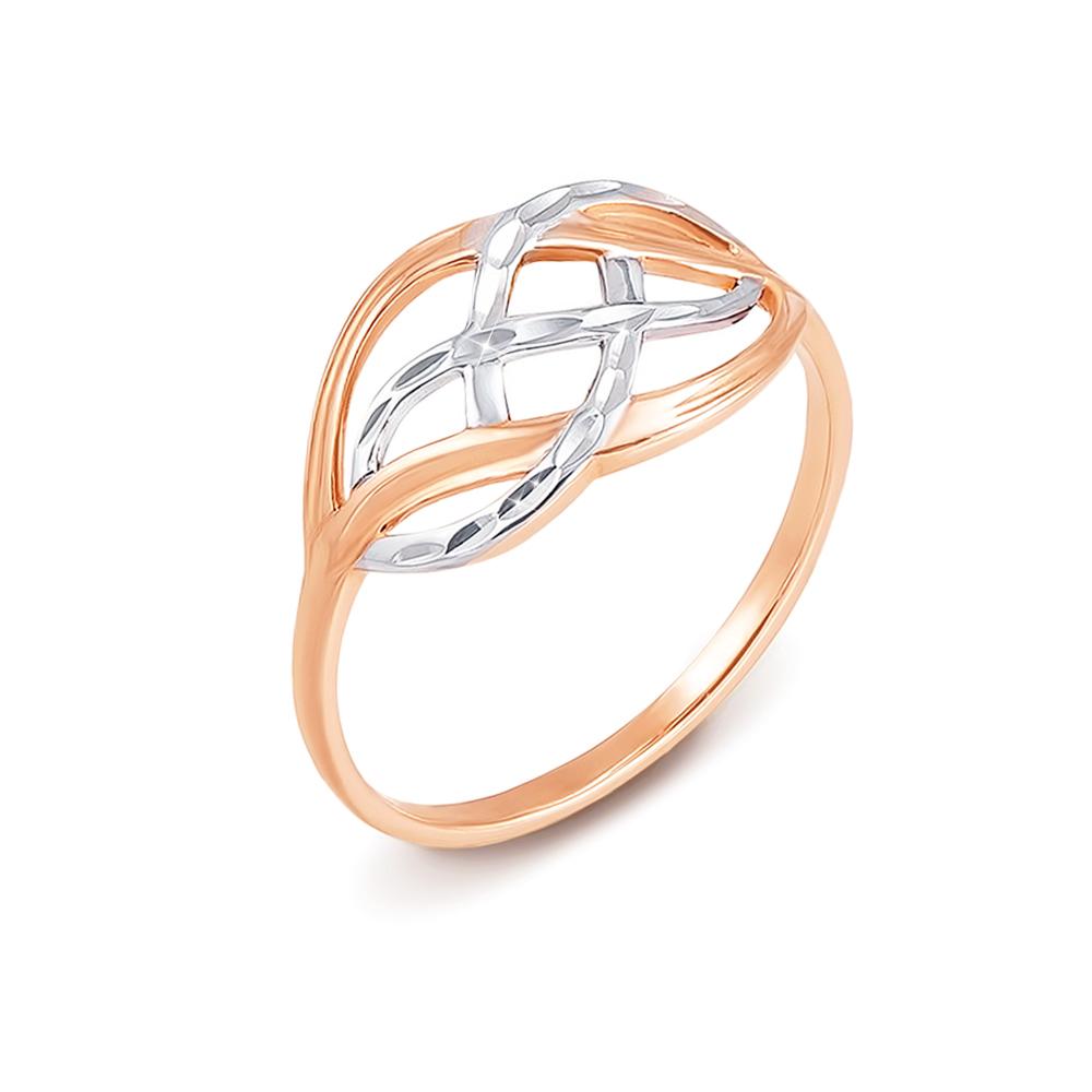 Золотое кольцо с алмазной гранью. Артикул 12492