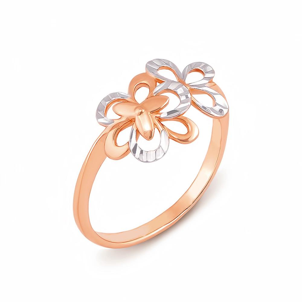 Золотое кольцо с алмазной гранью. Артикул 12497 с