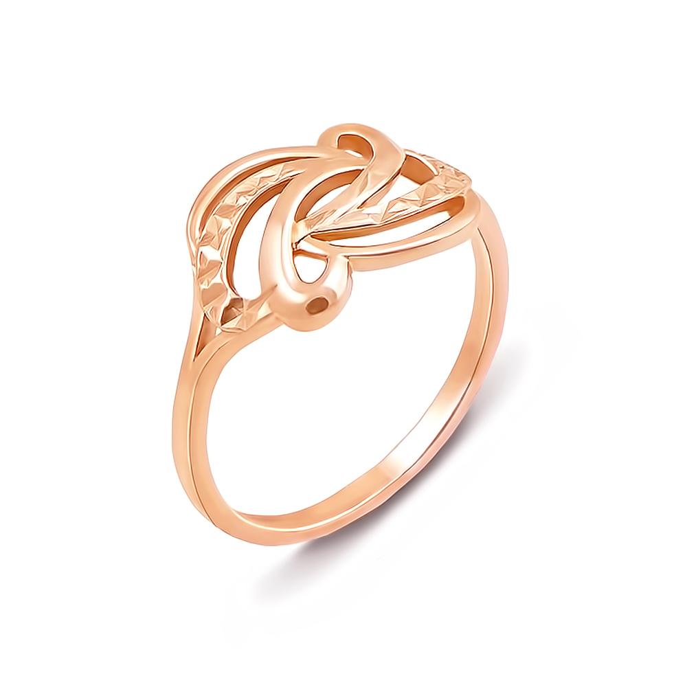 Золотое кольцо с алмазной гранью. Артикул 12500 с