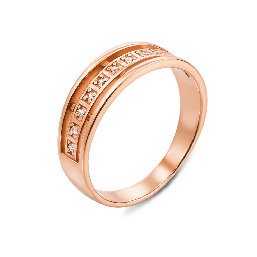 Золотое кольцо с фианитами. Артикул 12522 с