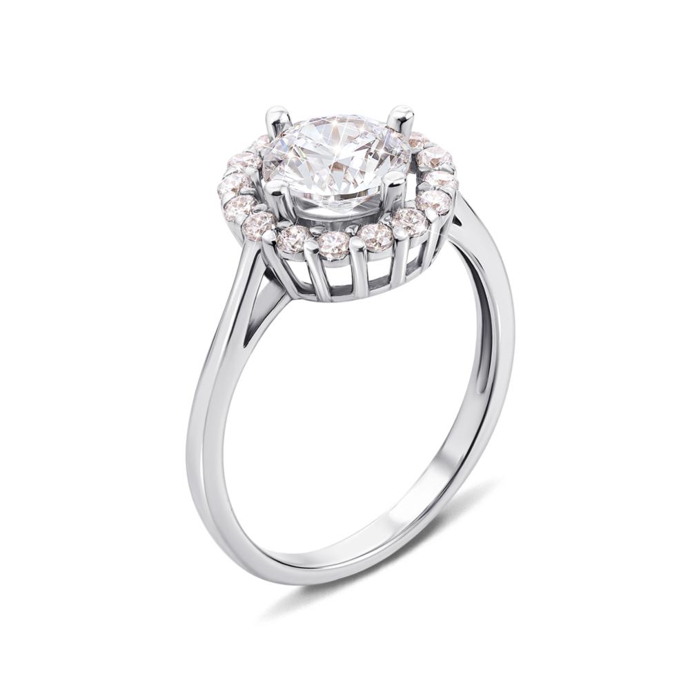 Золотое кольцо с фианитами Swarovski Zirconia. Артикул 12568/б SW