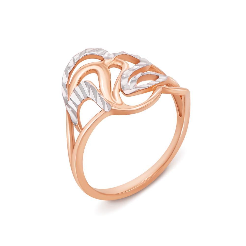 Золотое кольцо с алмазной гранью. Артикул 12695
