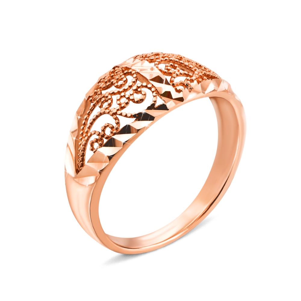 Золота каблучка з алмазною гранню. Артикул 12812