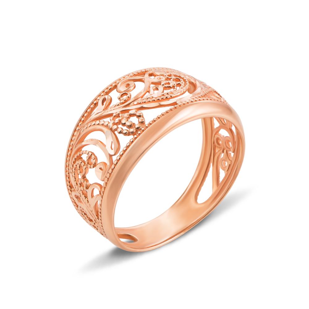 Золотое кольцо с алмазной гранью. Артикул 12824