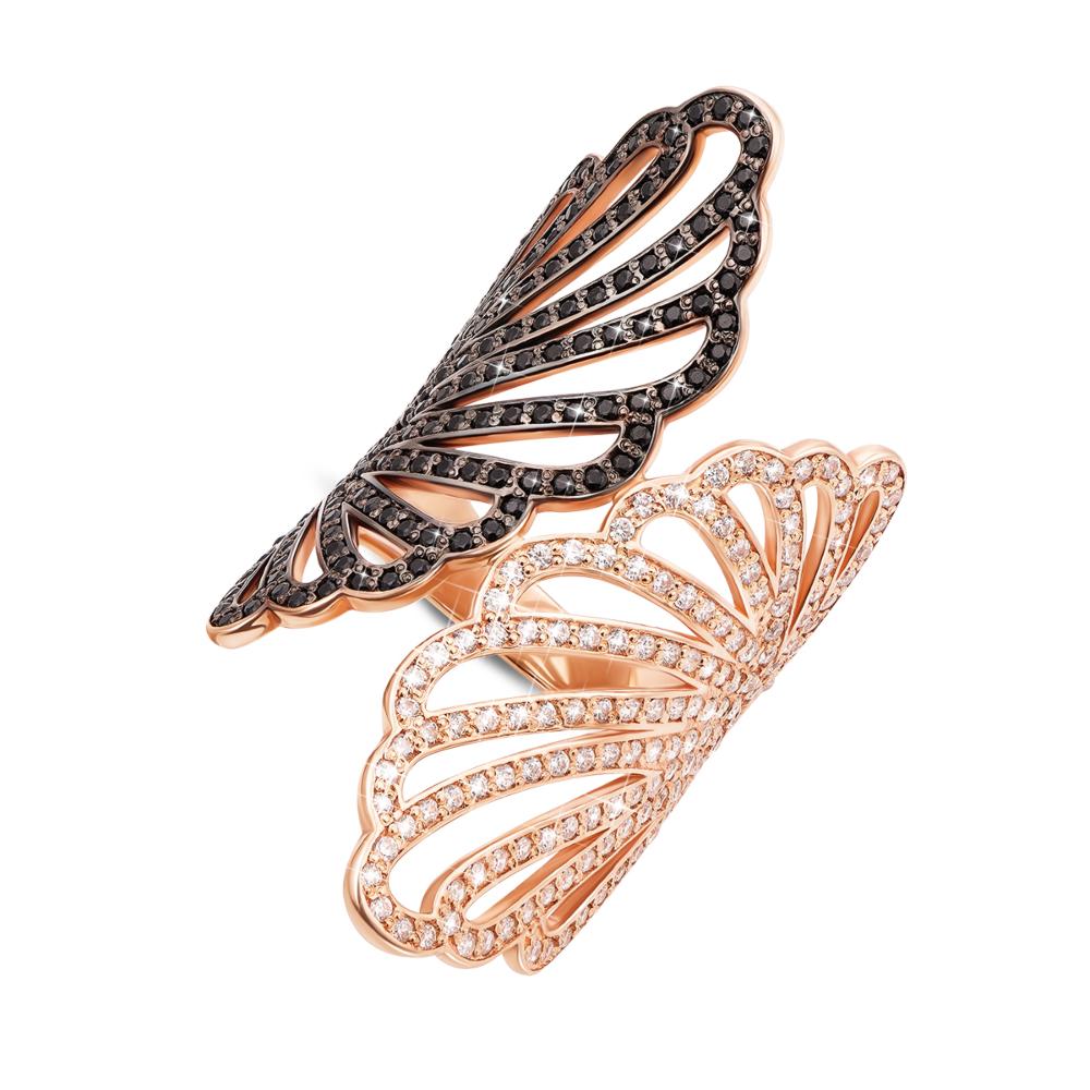 Золотое кольцо с фианитами. Артикул 12898/ч
