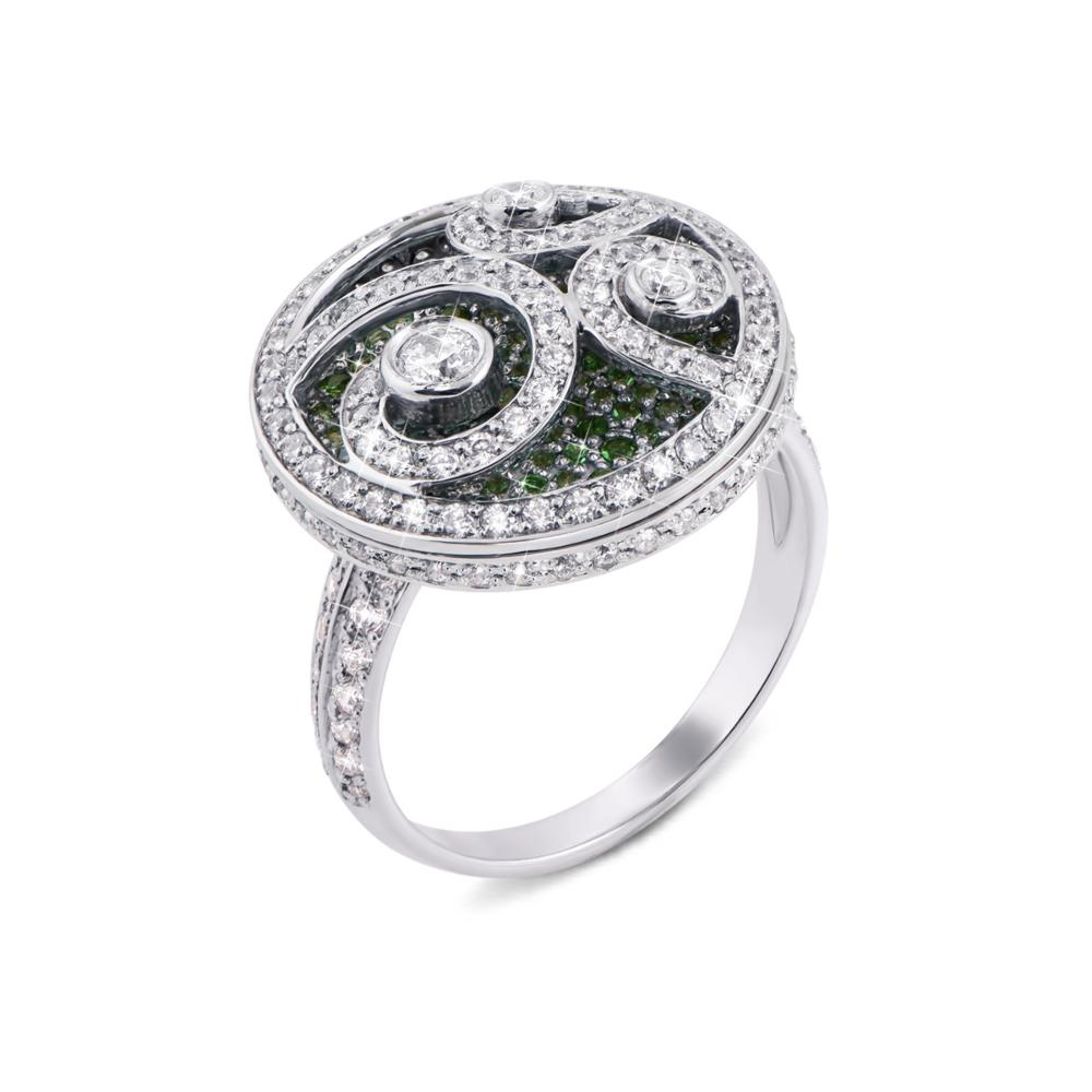 Золотое кольцо с фианитами. Артикул 12917/б цв сп