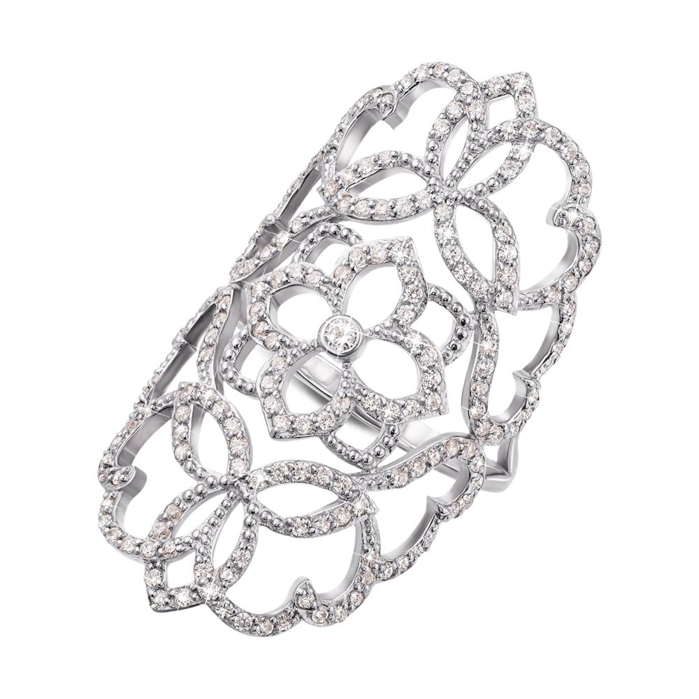 Фаланговое золотое кольцо с фианитами. Артикул 12926/б