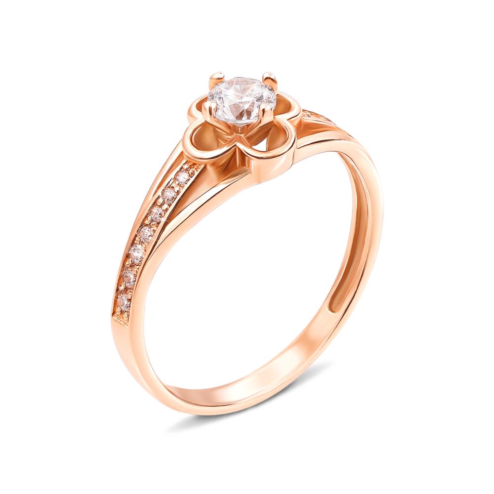 Золотое кольцо с фианитами. Артикул 12993