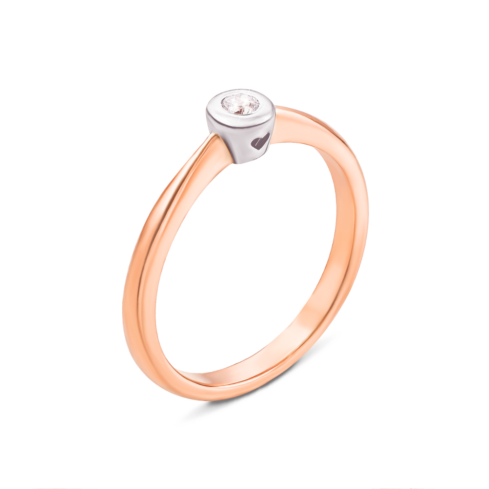 Золотое кольцо с фианитом. Артикул 13038/375