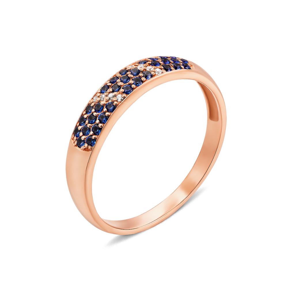 Золотое кольцо с фианитами. Артикул 13040/с