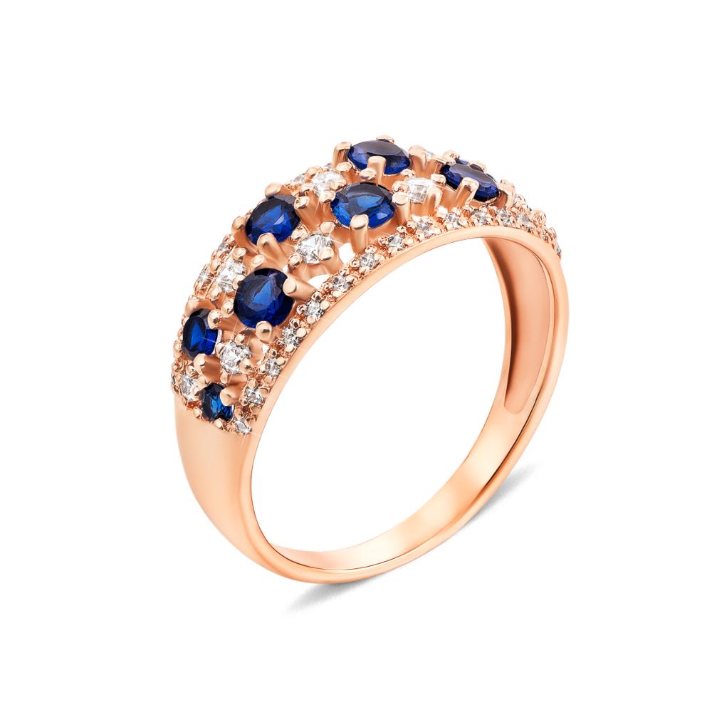 Золотое кольцо с фианитами. Артикул 13081/01/0/259 (13081/с)