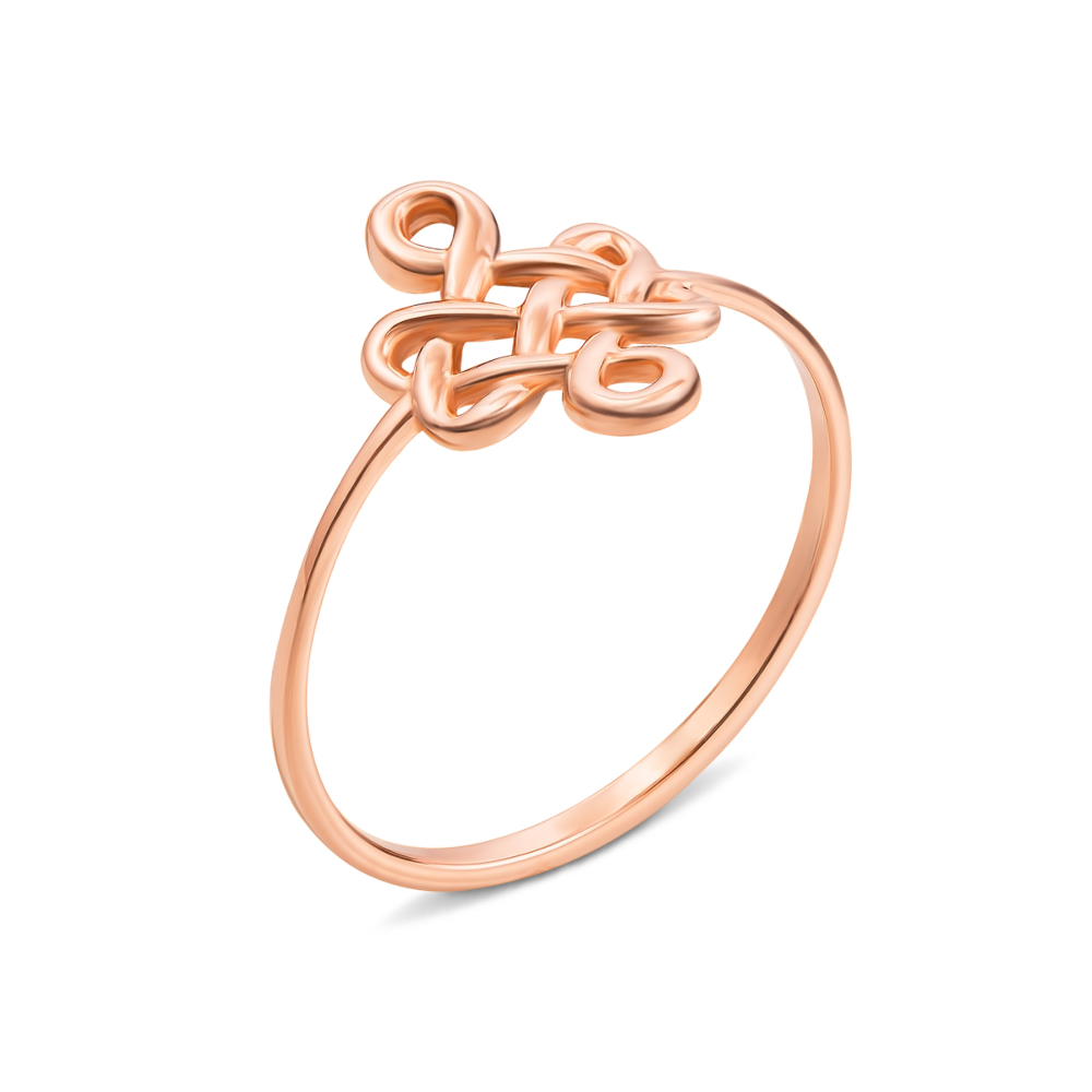 Золотое кольцо без вставки. Артикул 13087 п